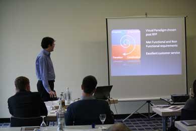 HMH presenting Visual Paradigm report customization