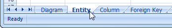 Entity exported per worksheet in Excel