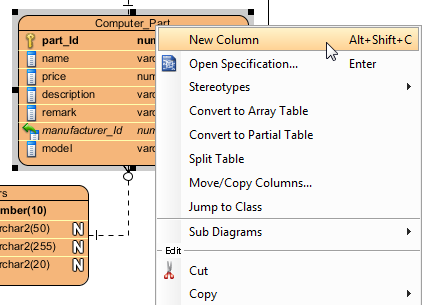 Create new column in entity