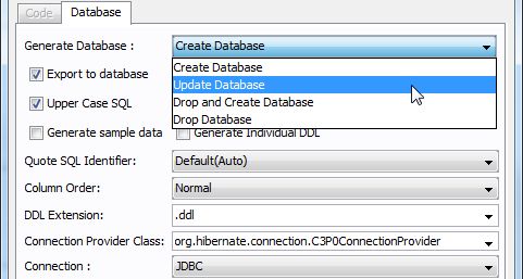 Generate script to update Oracle database schema