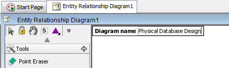 Enter diagram name of ERD