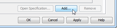 Add columns in entity specification dialog