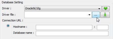 Specify JDBC jar for Oracle database