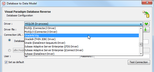 Select oracle database JDBC driver