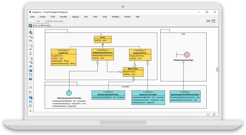 system process design - Visual Paradigm Professional