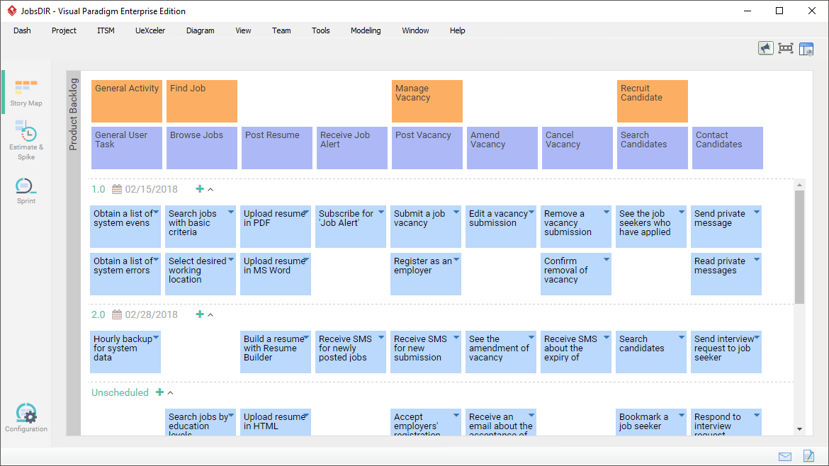Agile User Story Mapping Software