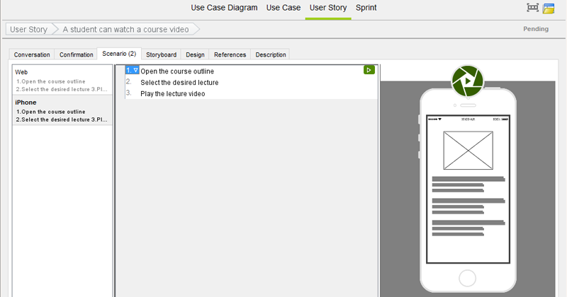 Link Scenario to Wireframe