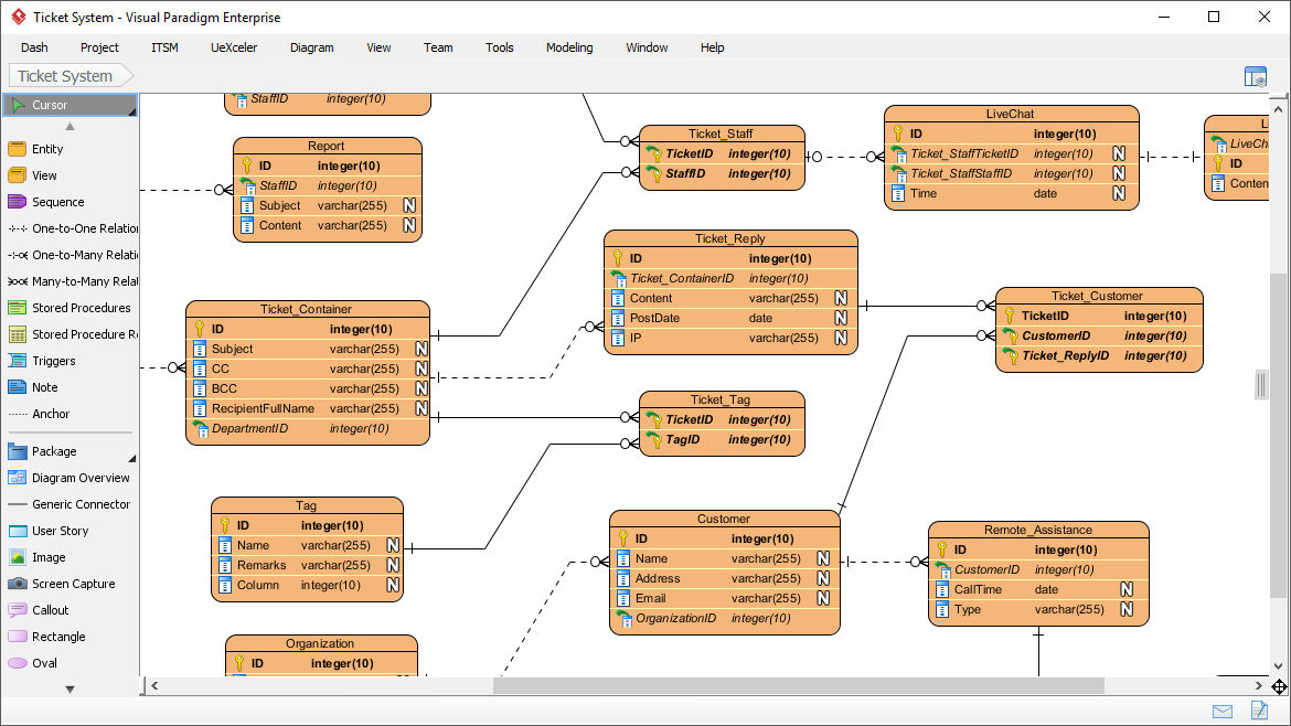 Database design with erd tools entity relationship diagram ccuart