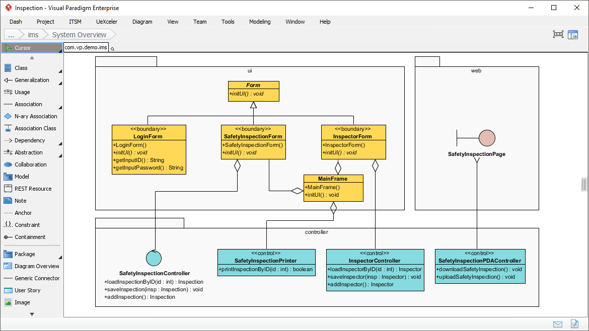 Easy to use uml tool class diagram ccuart