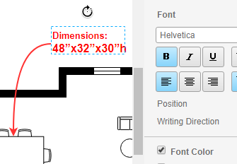 Easy to annotate floor plan design