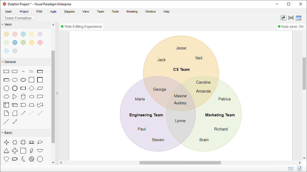 Venn diagram software