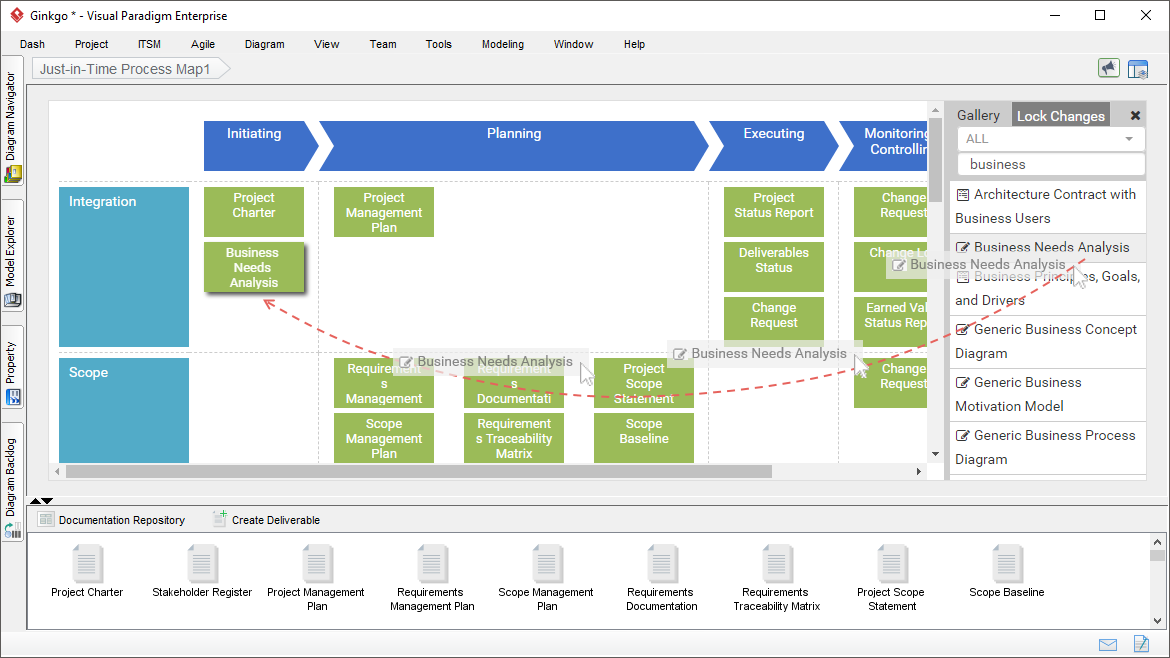 Easy-to-configure Just-in-Time Process Map