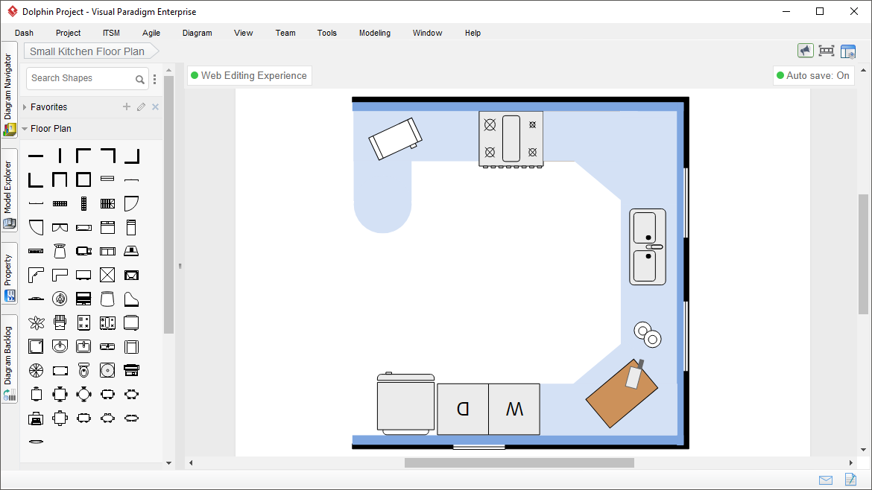 Kitchen Floor Plan | Floor Plan Maker