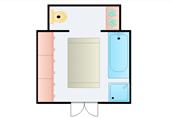 Bathroom sections floor plan template