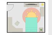 Guest bedroom floor plan template