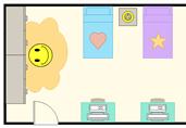 Kids bedroom floor plan template