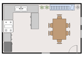 Dining room floor plan template