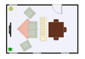Open dining area floor plan template