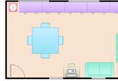 Simple dining room floor plan template
