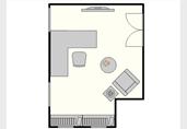 Modern home office floor plan template