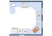 Kitchen floor plan template