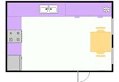 Small kitchen layout floor plan template