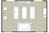 Living room section floor plan template