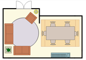 Typical living room layout floor plan template