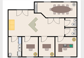 Office building layout floor plan template