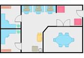 Starter office plan floor plan template