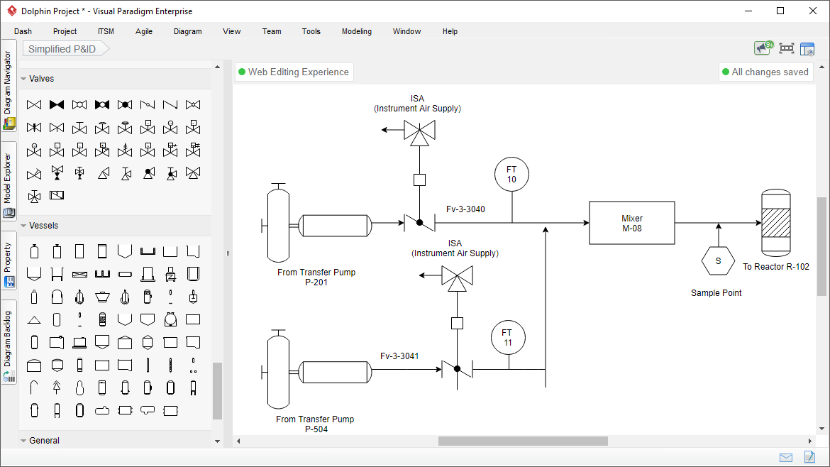 Piping And Instrumentation Diagram Tool