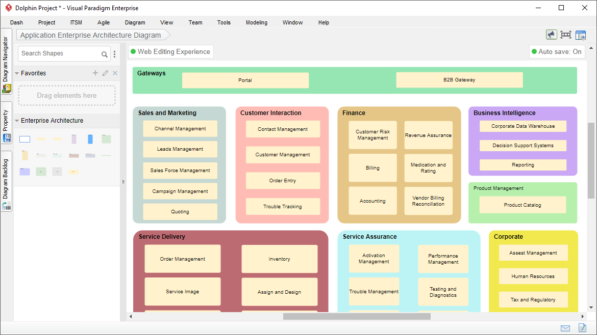 Enterprise Architecture Diagram Tool
