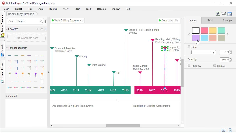 Timeline Diagram Software