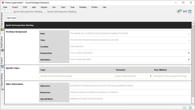 Conducting Sprint Retrospective: Meeting Form