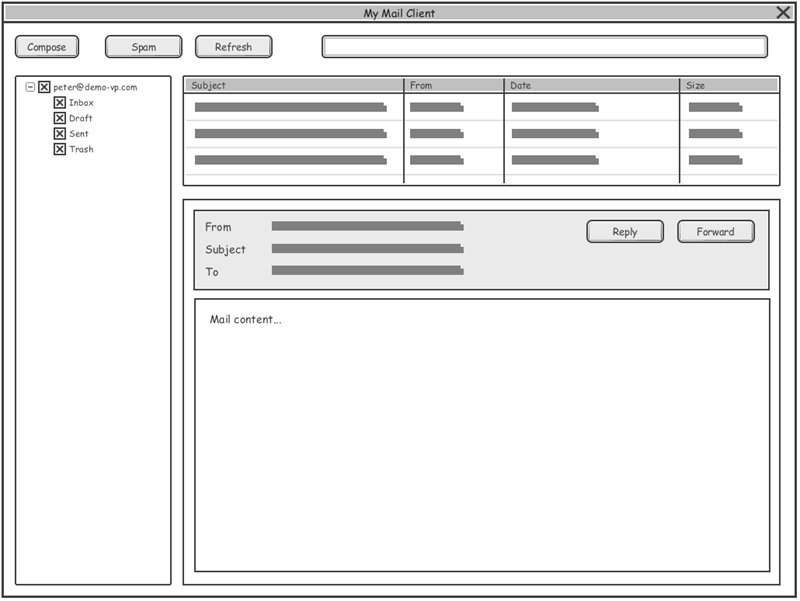 Desktop Application Wireframes
