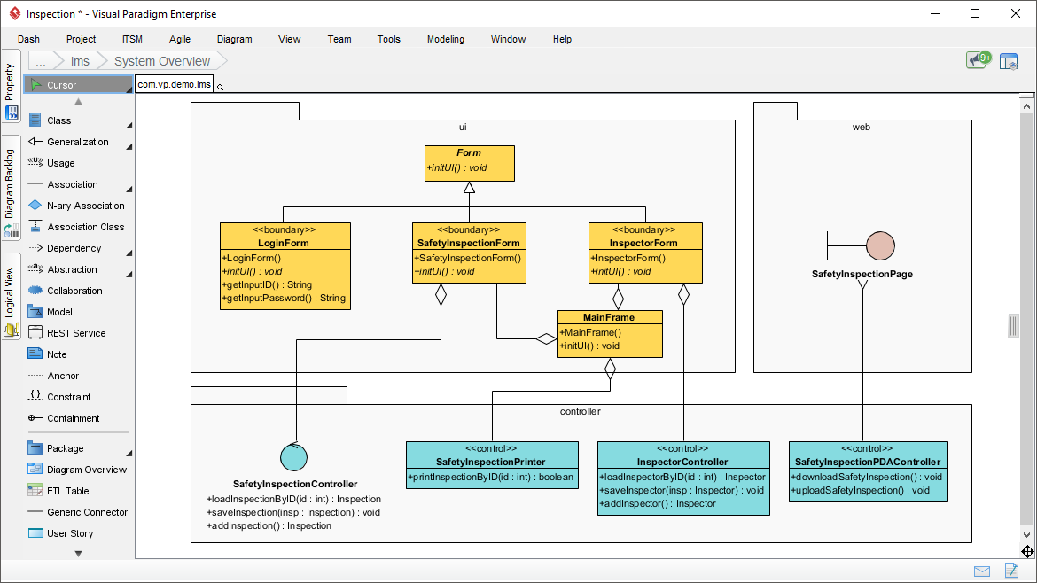 Agile UML Diagram Tool