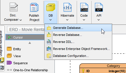 Generating Database From ERD