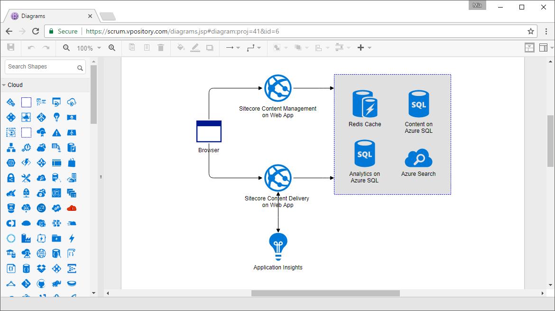 Web Azure Architecture Diagram tool