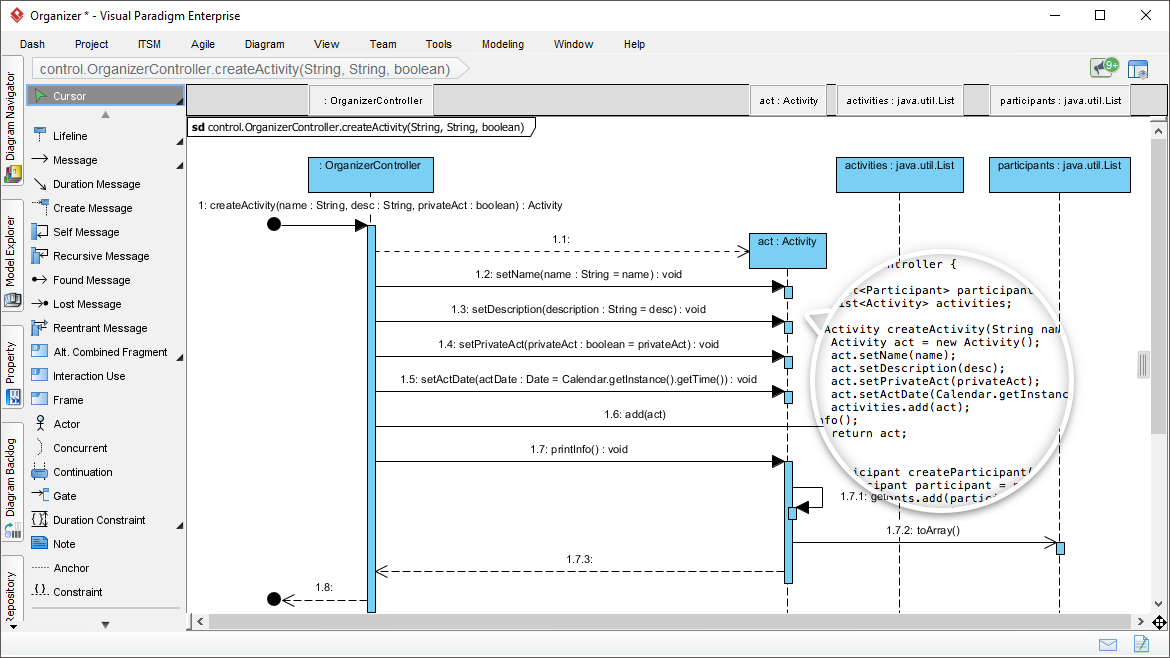 Powerful uml tool generate sequence diagram from java sequence diagram generated from code ccuart Choice Image