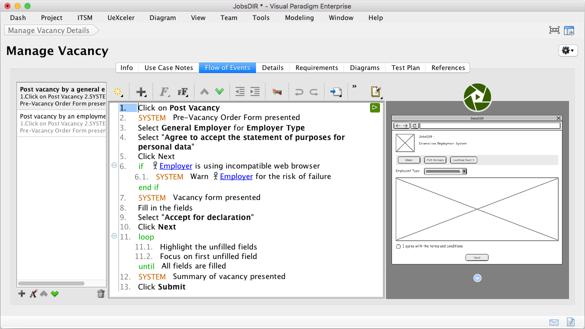 Professional uml tool for mac using wireframe in use case ccuart Gallery