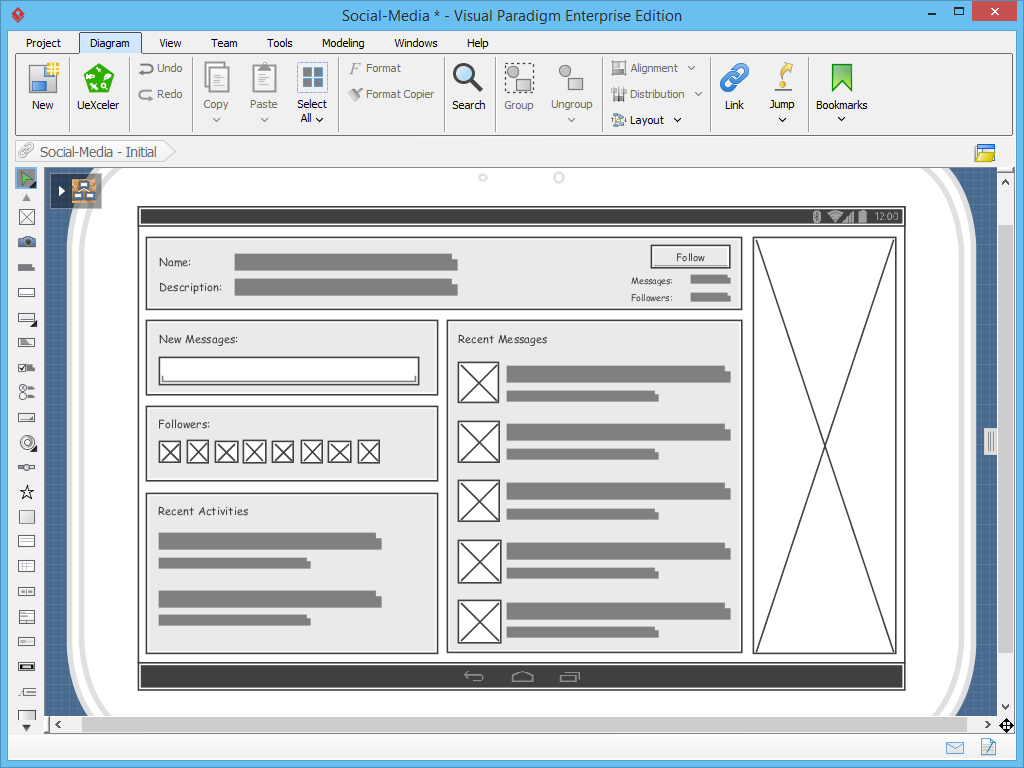Wireframe Tool - Wireframing User Experience (UX)