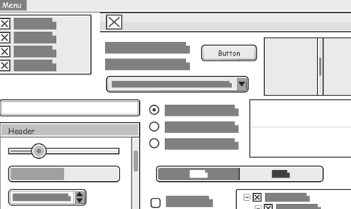 Rich Set of Wireframe Elements