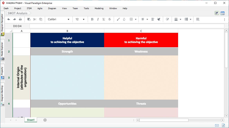 企业项目设计工具Visual Paradigm新功能详解(五):智能试算表工具