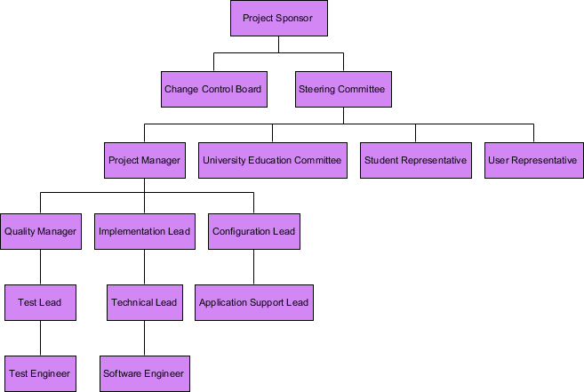 Organizational Breakdown Structure Example