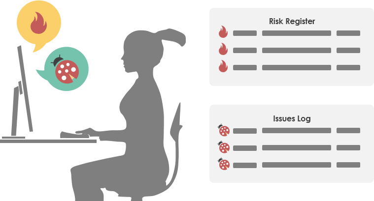 Track and manage project risks and issues