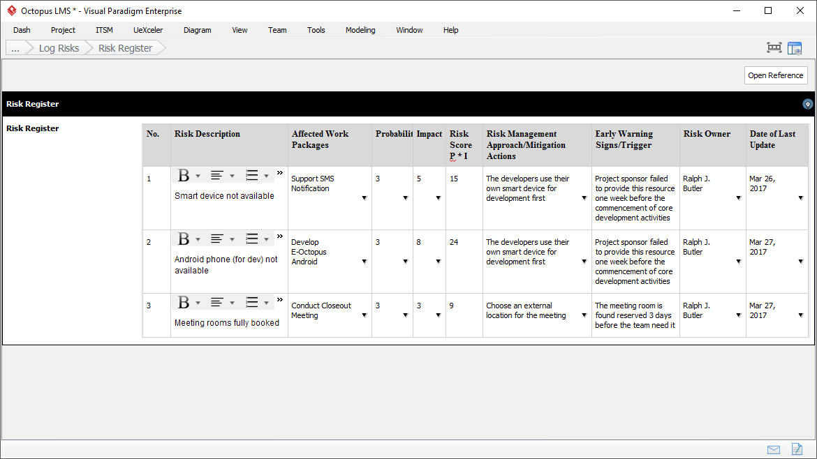 It project management planning phase the risk register is a log of all identified risks it shows the probability and impact of the risks to the project mitigation strategy and when the risk pronofoot35fo Gallery