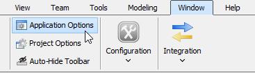 Select Application Options