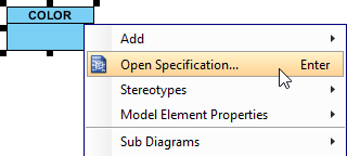 Open class specification