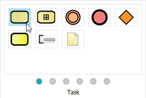 Selected task in Resource Catalog