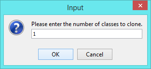 enter no of classes to clone